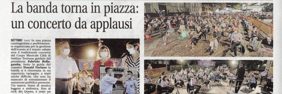 La banda torna in piazza: un concerto da applausi