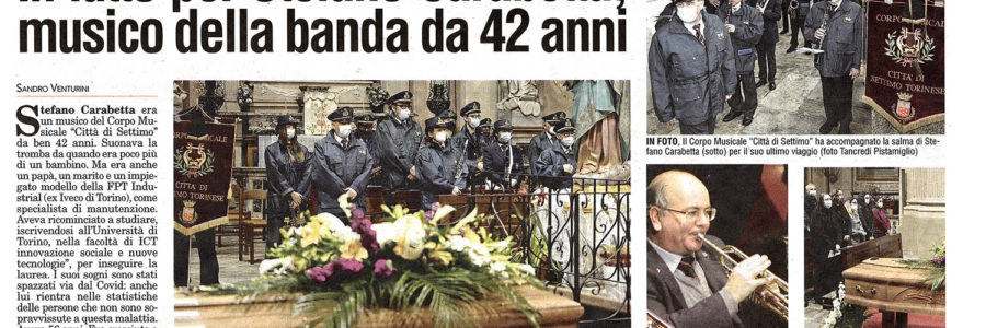 In lutto per Stefano Carabetta musico della banda da 42 anni